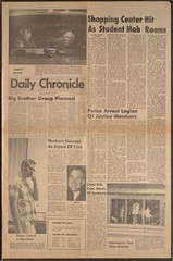 DeKalb Daily Chronicle, 5-21-1970 (Regional History Center & NIU Archives) Tags: boycott demonstration protest niu northernillinoisuniversity student news newspaper activism