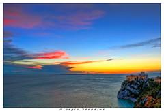 castello-duino-hdr2 (Giorgio Serodine) Tags: hdr duino castello tramonto golfo trieste calma coloreforte scogliera orizzonte friuli italia allaperto cielo nubi mare onde canon luci fari pini