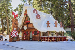 The Gingerbread House (Eddie Yerkish) Tags: santa village lake arrowhead california skypark christmas holiday season merry mountains outdoors colors trees magic winter candy cane wood gingerbread house man snow nikon d7200