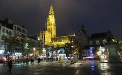 Antwerp, Groenplaats (Elisa1880) Tags: antwerpen antwerp city stad belgie belgium groenplaats by night bij avond