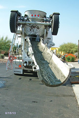 Business End Of A Concrete Mixer (RailPhotos+) Tags: truck concrete cementmixer tucson myhouse cementtruck kenworth tucsonaz tucsonarizona concretemixer concretetruck