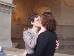 The Kiss (moyalynne) Tags: sanfrancisco 2004 cityhall marriage valentinesday