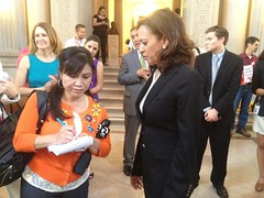 Amber Lee, KTVU Reporter Interviews Kamala Harris IMG_4927 (Lynn Friedman) Tags: sf sanfrancisco california ca gay wedding usa history television cityhall politics reporter marriage wed celebration event firstday press interview equalrights equality supremecourt witness 94102 samesex ktvu channel2 amberlee attorneygeneral kamalaharris lynnfriedman