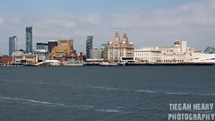 View Across The Mersey (ScouseTiegan) Tags: water ferry liverpool docks river landscape boat mersey rivermersey