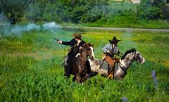 27th Annual Goliad Massacre (Tejas Cowboy) Tags: horse river mexico army la costume san texas massacre candid tx bahia revolution annual antonio reenactment presidio cavalry texan 27th goliad fannin 1836 texican