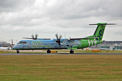 G-JEDP DHC-8Q 402 Flybe Low cost but not any cost CS MAN 10-08-13 (PlanecrazyUK) Tags: man manchester egcc flybe dhc8q402 gjedp