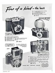 Agilux (Lost-Albion) Tags: camera london surrey advert 1957 croydon agilux agifold agiflash agiflex agimagic