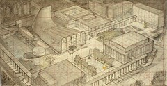 Hugh Ferriss' architectural sketches, 1915-1961 (rosswolfe1) Tags: drawing futurism metropolis modernarchitecture hughferriss