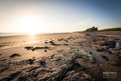 Bamburgh sunrise (Matt Parry Photo) Tags: uk greatbritain morning england castle beach sunrise coast early rocks unitedkingdom britain wideangle northumberland lowtide bamburgh farneislands sigma1020 canon60d mattparry