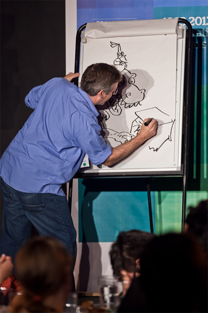 Live drawing with Jura Unbound and Illicit Ink