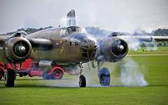 Mitchell Firing.. (mickb6265) Tags: netherlands force display air flight american historical b25 232511 duxfordduxford 2013north mitchellroyal
