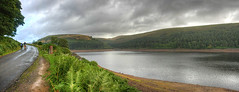 Howden Reservoir (sjs.sheffield) Tags: park autumn panorama canon dam district derwent peak reservoir september national valley photomerge hdr howden reservoirs photomatix 2013 180913 sjssheffield