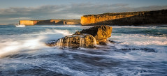 Slanted Light (Nick Twyford) Tags: sea seascape sunrise nikon rocks waves australia victoria cliffs greatoceanroad lochardgorge portcampbell earlymorninglight portcampbellnationalpark colourimage leefilters 1024mm d7000 sherbrookriver lee09nd lee06gndhard phottixgeoone