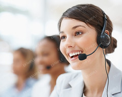 Closeup of a female customer service representative (genie_solution) Tags: people woman blur cute girl beautiful beauty smile face up smiling closeup modern female work happy person corporate office team model women call looking close adult background space working young center fresh headset professional communication business customer service worker copyspace secretary talking executive success copy colleague employee confident teamwork caucasian