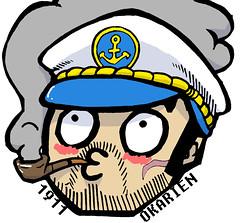 Captain Conner (OkarienDINGO -TDB-) Tags: sea art illustration digital logo graffiti drawing stickers captain labels prints usps vinyls 1911 trades okarien