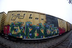 Evots (AZbencher) Tags: railroad train graffiti rust freight mtc fec railbox moniker ync evots