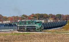 EVWR 6003 HAD2 Mt Vernon IN 03 Nov 2013 (Train Chaser) Tags: sd402 evwr evansvillewestern evwr6003 evwrhad2