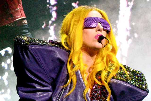 Lady Gaga Lady Gaga performing on The Monster Ball Tour © Ashley Scott, 2010