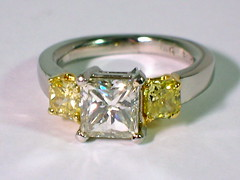 Diamonds (theappraiserlady) Tags: diamonds squares ring weddingring anillo diamondring diamantes joyas fancyyellowdiamonds yellowdiamonds diamondjewelry princesscutdiamonds diamondengagementring theappraiserlady joyasfinas diamantesamarillos