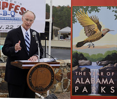 11-22-13 Governor Bentley announces Year of Alabama Parks Campaign at Oak Mountain State Park