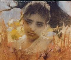 Eugenio Prati Estate 1895 pastello ad olio su pergamena 42 x 47 cm Collezione privata