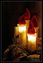 Au pied de la cathdrale de Sion (perlmic) Tags: nightphotography bougies sion valais 70d photodenuit canon70d