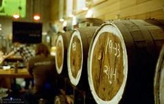 Barrel aged (Indofunk Satish) Tags: nyc film beer barrel queens brewery astoria canonet singlecut cinestill