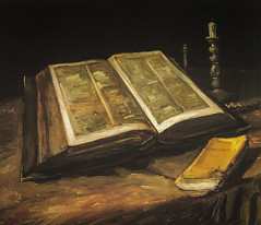 Vincent van Gogh - Still Life with Bible, 1885 at Van Gogh Museum Amsterdam Netherlands (mbell1975) Tags: life art netherlands dutch amsterdam museum painting still gallery museu with fine vincent arts thenetherlands musée musee m impressionism bible museo van gogh impression impressionist galleria muzeum 1885 beauxarts müze northholland museumuseum