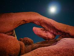 Arch @ Joshua Tree (Big Bad Moon) (Joe Y Jiang) Tags: california moon lightpainting nature rock night star nationalpark view joshuatree lanscape gx7 olympus12mmf20