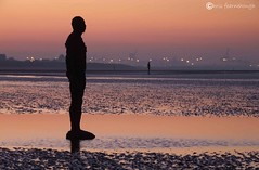 Another Place0040 (chris fearnehough) Tags: sunset liverpool sunrise crosby antonygormley anthonygormley anotherplace gormleystatues ironmanstatues
