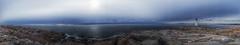 Peggy's Cove Lighthouse Panorama (Nova Scotia, Canada. Gustavo Thomas © 2014) (Gustavo Thomas) Tags: sea panorama mer lighthouse canada color beach faro mar novascotia view stones large peggyscove fare ravel travelog panorá´míca