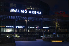 Malm Arena (Hkan Dahlstrm) Tags: blue architecture night shopping se skne sweden entrance center arena emporia sverige f80 uncropped malm 2014 hyllie skneln entr canoneos100d 13sek ef40mmf28stm 2312012014180123
