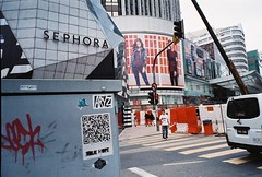 (yangkuo) Tags: street film architecture buildings trafficlight crossing roadworks natura 1600 grainy expired lot10 bukitbintang urbanscape sephora uniqlo classica bintangwalk waitingtocross npmode fahrenheit88 mildgraffiti