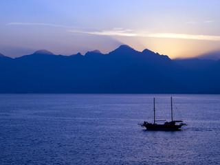 Sundown at the Marina, Kaleici Antalya.