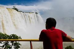 In red (Ricardo Cosmo) Tags: park parque red brazil people water paran gua brasil rojo pessoas vermelho iguazufalls fozdoiguau iguassufalls mft cataratasdoiguau ricardocosmo panasonicg3