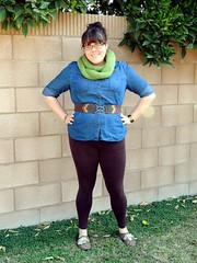 Fatshion: Peggy Bundy (eatacarvelcake) Tags: fashion diy fat denim leggings peggybundy fatshion fatblogger latinablogger
