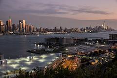 Weehawken sunset iii (grapfapan) Tags: nyc newyorkcity urban usa river newjersey cityscape dusk manhattan hudson flickrandroidapp:filter=none