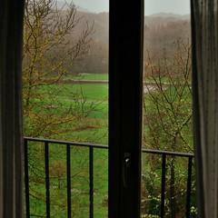 Sin salir de casa (Mara Taboada) Tags: verde green window rain ventana lluvia galicia prados