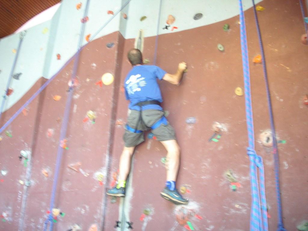 DC and staff rock climbing 015