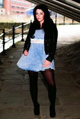 Jacquelyn (Mateusz Tadych) Tags: lighting street black hot sexy beautiful highcontrast skirt graffity heels streetphoto offcameralighting