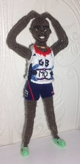 More Power MO Farah my #copyright photo and knitted design (Denise Salway) Tags: art wales knitting media doll dolls witch mo virgin richard advert bolt welsh denise branson figures farah 2012 fibre the olypmic usain salway