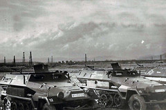 "Armored personnel carriers SDKFZ 251/1 ""HANOMAG"" from 16-th Panzer Division • <a style=""font-size:0.8em;"" href=""http://www.flickr.com/photos/81723459@N04/14119353782/"" target=""_blank"">View on Flickr</a>"