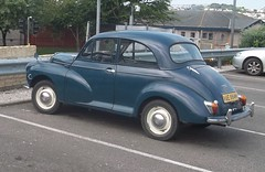 Two Owner Morris Minor (occama) Tags: door old uk blue 2 two classic car vintage cornwall british 1970 morris minor 1000 moggy morry wae884h