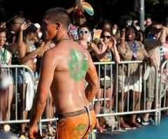 Walking On By (Reg|Photography4Lyfe) Tags: boy shirtless people man photography washingtondc dc crowd pride bodypaint parade prideparade dmv 2014 pridefest capitalpride