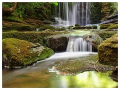 Waterfall (davebatt24) Tags: waterfall samsung northwales nantmill snapseed