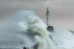 Winter Storm (FlatOutPhoto) Tags: aberdeen harbour lighthouse winterstorm winter storm sea