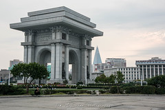 Triumphal Arch in Pyongyang, North Korea (DPRK) (tommcshanephotography) Tags: adventure asia communism dprk democraticpeoplesrepublicofkorea expedition exploring kimilsung kimjungil kimjungun northkorea pyongyang revolution secretcompass travel trekking