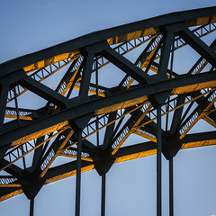 Tyne Bridge Cameo (Chris Lishman) Tags: chrislishman lishman chrislishmanphotography tyne tynebridge newcastleupontyne goldenlight