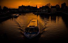 Sunset in Amsterdam (marcmayer) Tags: city 18250mm sigma d5200 nikon sun holland niederlande amsterdam sonnenuntergang sunset boot