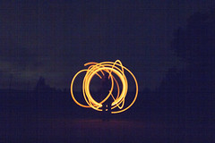 NOISE (gavin.hoskins) Tags: canoneos60d lighttrail noise wirewool fire light grain figure night nightshot circles scotland outside